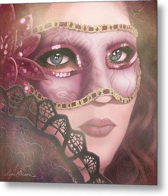 Masked Iv Metal Print by April Moen