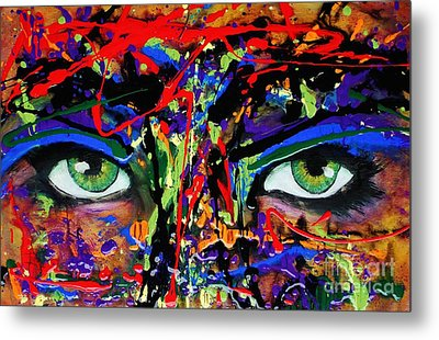 Masque Metal Print by Michael Cross