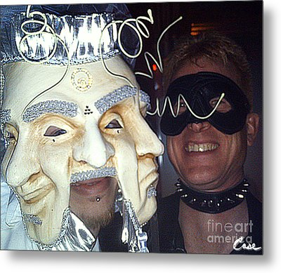 Masquerade Masked Frivolity Metal Print by Feile Case