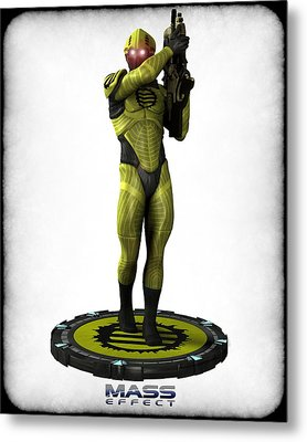 Mass Effect - Eclipse Soldier Metal Print by Frederico Borges