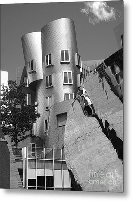 Massachusetts Institute Of Technology Stata Center Metal Print by University Icons
