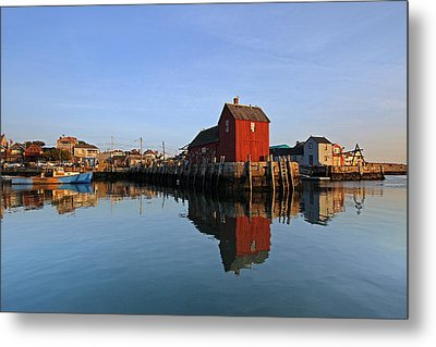 Massachusetts Rockport Harbor Metal Print by Juergen Roth