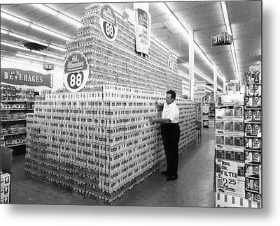 Massive Beer Display Metal Print by Retro Images Archive