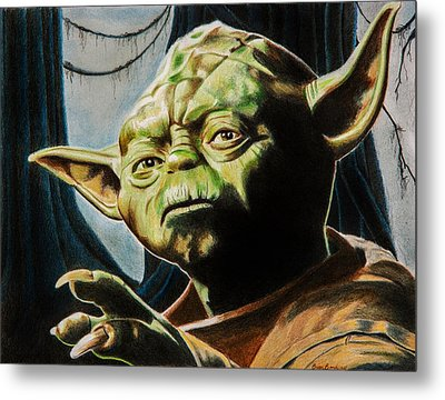 Master Yoda Metal Print by Brian Broadway