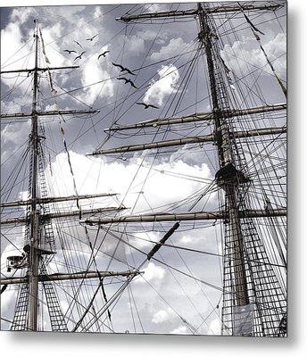 Masts Of Sailing Ships Metal Print by Evie Carrier