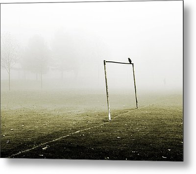 Match Abandoned Metal Print by Mark Rogan