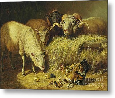 Maternal Solicitude Metal Print by Pg Reproductions