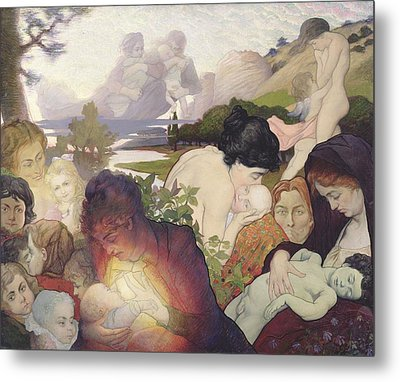 Maternity Metal Print by Charles Maurin