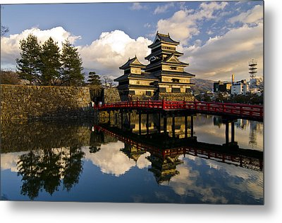 Matsumoto Reflection Metal Print by Aaron S Bedell