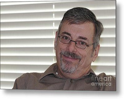 Mature Man Looking At Viewer Metal Print by Lee Serenethos