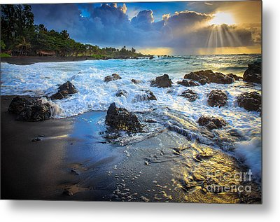 Maui Dawn Metal Print by Inge Johnsson