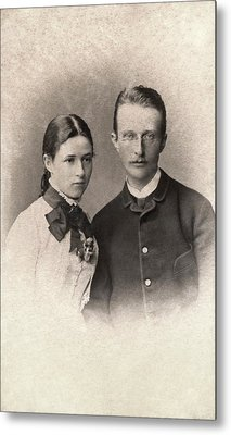Max Planck And Wife Metal Print by American Philosophical Society
