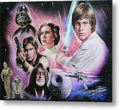May The Force Be With You Metal Print by Andrew Read