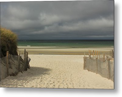 Mayflower Beach Storm Metal Print by Amazing Jules