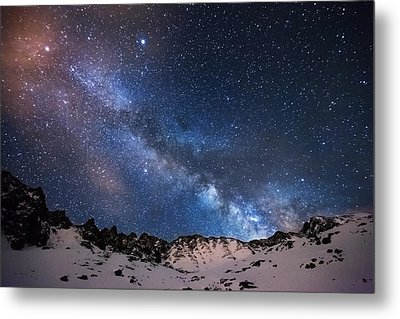 Mayflower Gulch Milky Way Metal Print by Darren  White