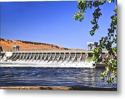 Mcnary  Hydroelectric Dam Metal Print by Robert Bales