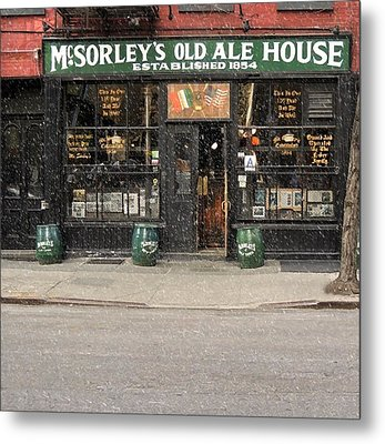 Mcsorley's Old Ale House Metal Print by Doc Braham