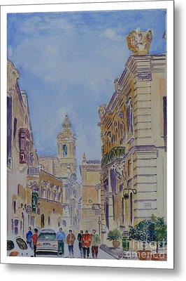Mdina Malta Metal Print by Godwin Cassar