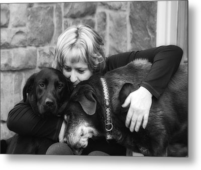 Me And My Pals Metal Print by Guy Whiteley