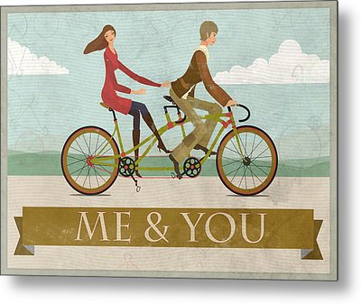 Me And You Bike Metal Print by Andy Scullion