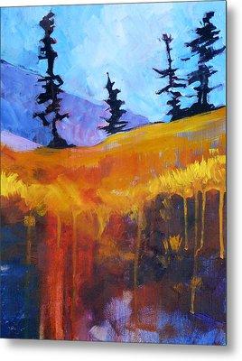 Meadow Mountain Metal Print by Nancy Merkle
