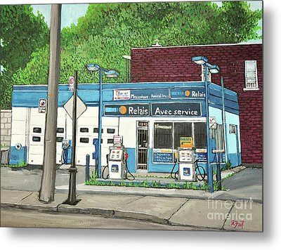 Mecanique Amical Inc. Pointe St. Charles Metal Print by Reb Frost