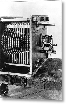 Mechanical Gear Number Sieve Metal Print by Underwood Archives