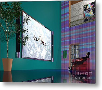 Media Room Metal Print by Walter Oliver Neal