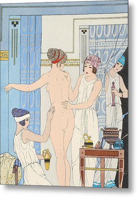 Medical Massage Metal Print by Joseph Kuhn-Regnier