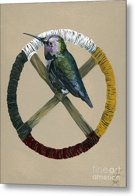 Medicine Wheel Metal Print by J W Baker