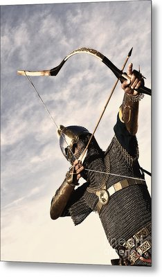 Medieval Archer Metal Print by Holly Martin
