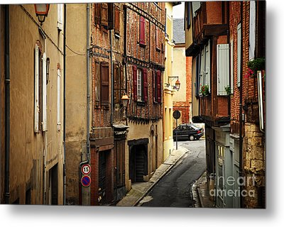 Medieval Street In Albi France Metal Print by Elena Elisseeva