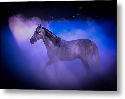 Medieval Times Tournament Horse Metal Print by Gene Sherrill