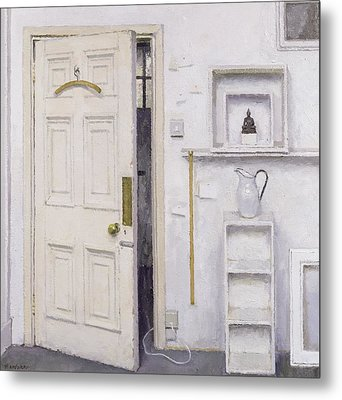 Meditation On A Door I Metal Print by Charles E Hardaker