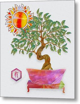 Meditation Tree Metal Print by Gayle Odsather