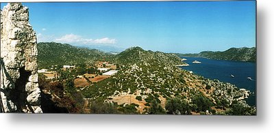 Mediterranean Sea Viewed Metal Print by Panoramic Images