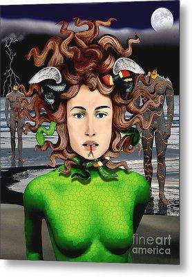 Medusa Metal Print by Keith Dillon