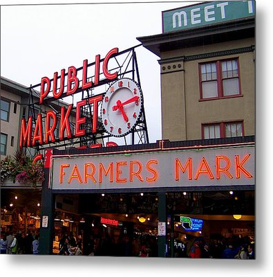 Meet Me In Seattle Metal Print by Karen Wiles
