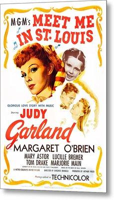 Meet Me In St. Louis, Judy Garland Metal Print by Everett