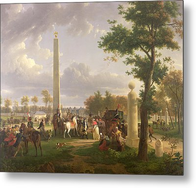 Meeting Between Napoleon I And Pope Pius Vii Metal Print by Alexandre Hyacinthe Dunouy