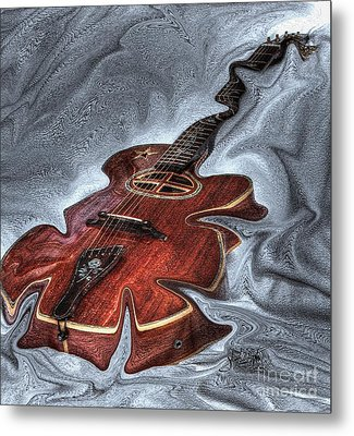Melted Digital Guitar Art By Steven Langston Metal Print by Steven Lebron Langston