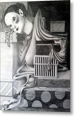 Melting Girl Metal Print by Ava Dahm