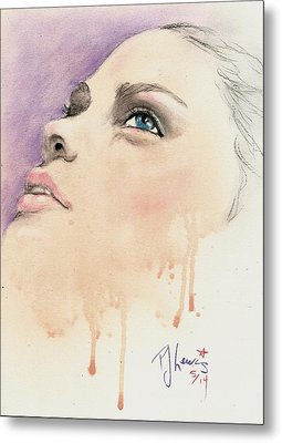 Melting Youthful Beauty Metal Print by P J Lewis