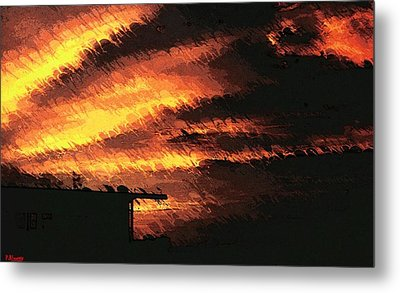Memories Of A Sunset Metal Print by Pamela Blayney