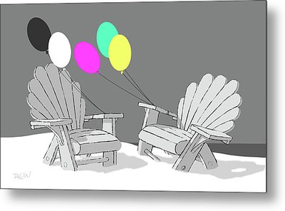 Chair Talk Metal Print by Tom Dickson