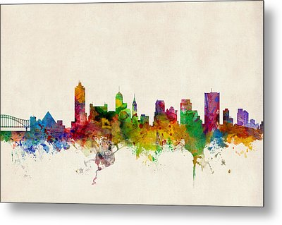 Memphis Tennessee Skyline Metal Print by Michael Tompsett