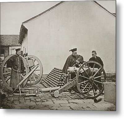 Men With Volley Gun And Rockets Metal Print by British Library