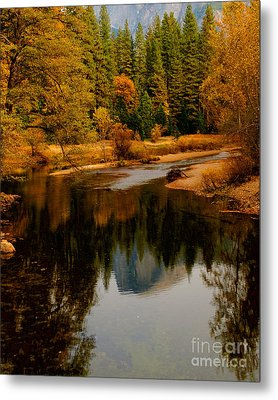 Merced River And Half Dome 2 Metal Print by Terry Garvin