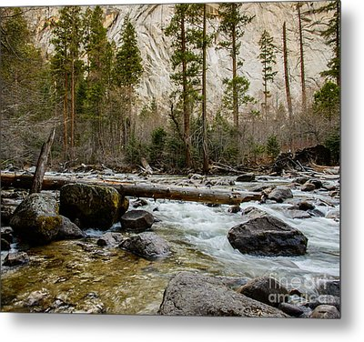 Merced River From Happy Isles 2 Metal Print by Terry Garvin