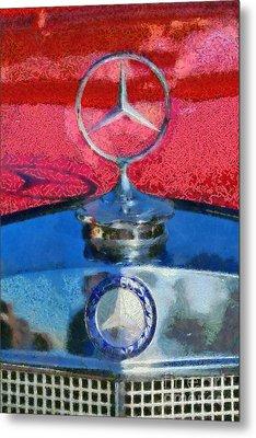 Mercedes Badge Metal Print by George Atsametakis